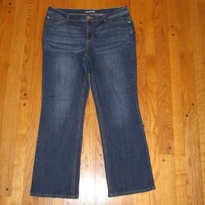 MAURICES STRAIGHT LEG JEANS PLUS SIZE 18 R NICE!!